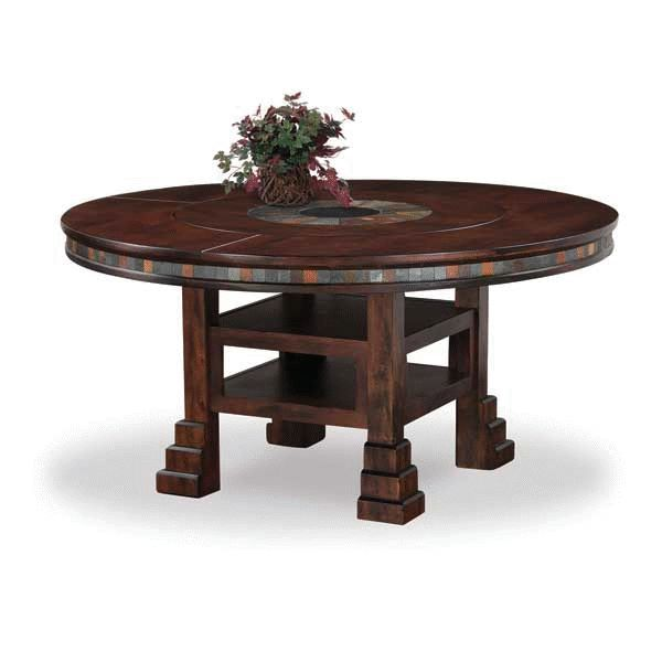 Santa Fe Dark Chocolate Wood 60 Inch Round Table