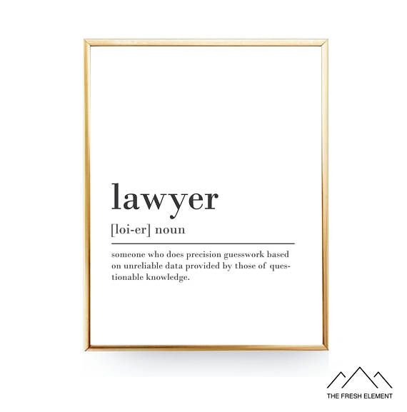 Funny Lawyer Definition Print Printable Instant Download Lawyer