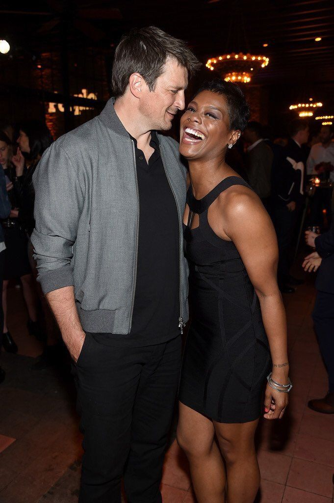 Nathan Fillion of The Rookie and Afton Williamson of ...