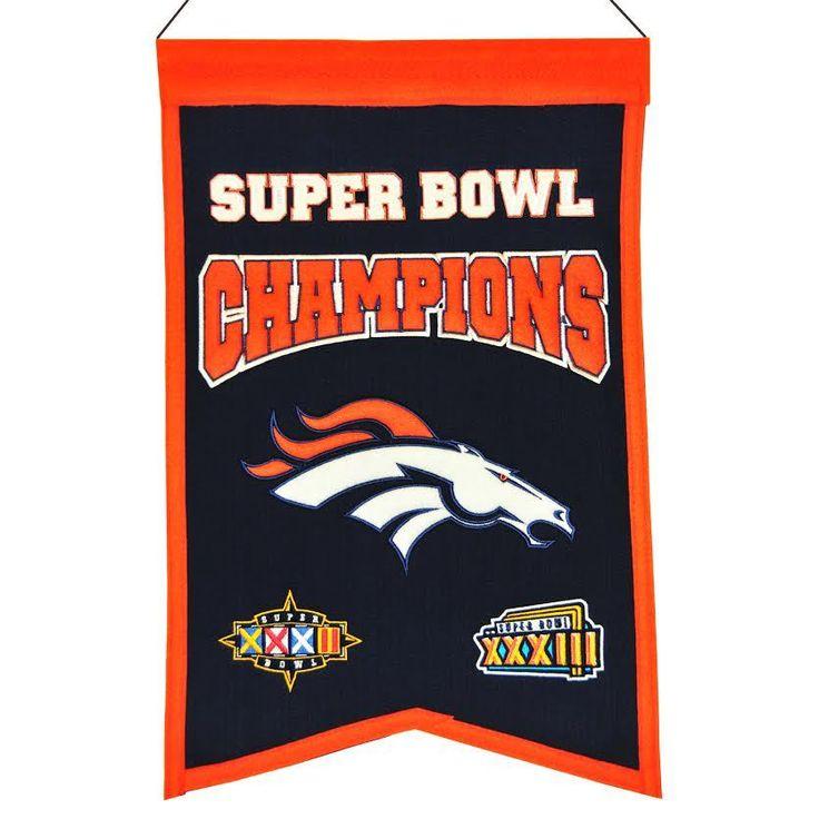 Denver Broncos Wool Champions Banner – ResellerHub.store