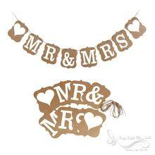 Мистер и миссис свадьба баннер винтажный барлеп деревенский кантри фото опора свадьба баннер ну вечеринку украшение(China (Mainland))