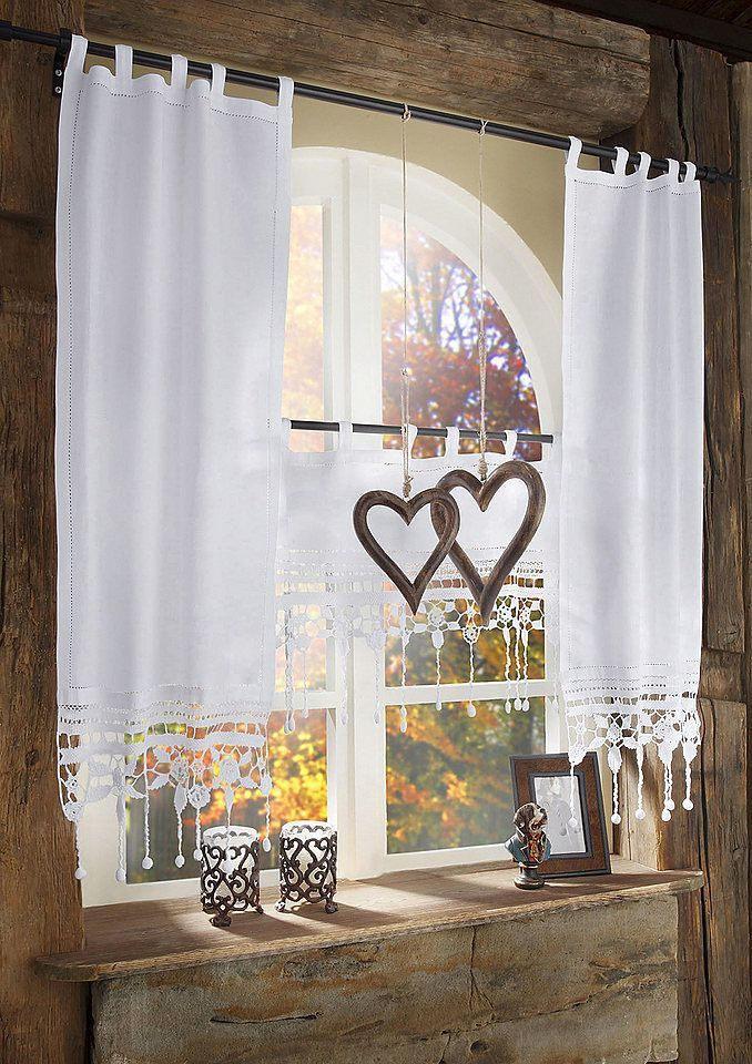 Scheibengardine Grossglockner Hossner Art Of Home Deco Schlaufen 1 Stuck 2019 Scheibengardine Hossner Gr Curtains Living Curtains Living Room Home Curtains