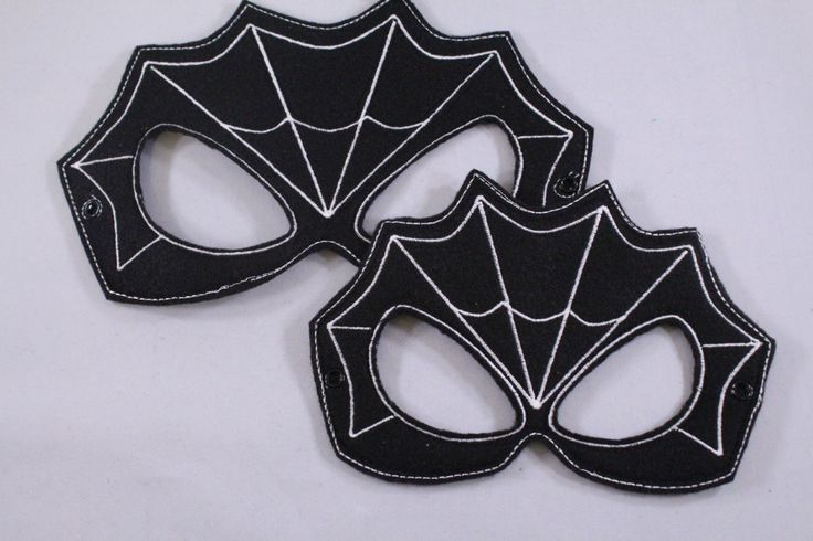 Black Spiderman Inspired Embroidered Mask by OhSewCraftyRoberts on Etsy