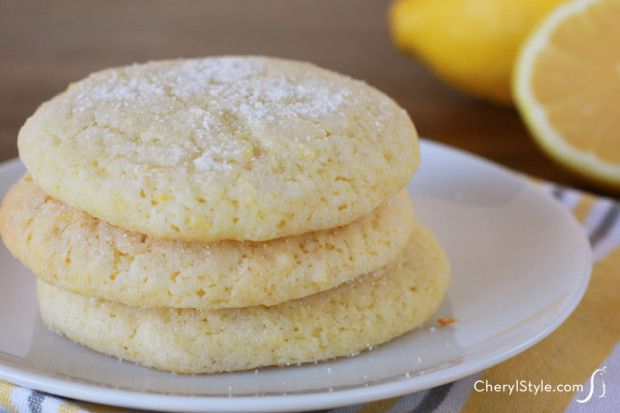 Melt-in-your-mouth lemon sugar cookie