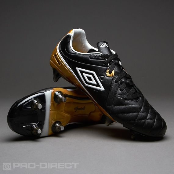 Umbro Football Boots - Umbro Speciali 4 Pro SG - Soft Ground - Black-White-Metallic Bronze
