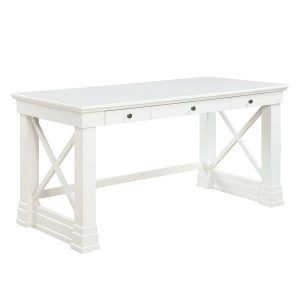 Elegant White Wood Vanity Table