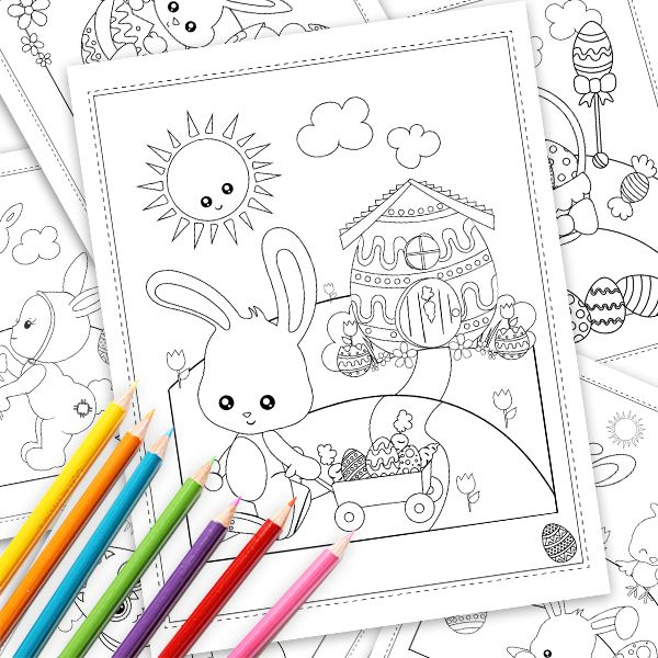 Commercial Use Graphics Cliparts Patterns Prettygrafik Store Easter Coloring Book Printable Coloring Book Easter Coloring Pages