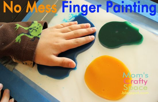 No Mess Finger Painting at Mom's Crafty Space