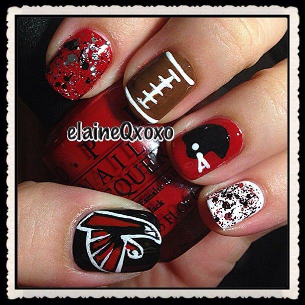 atlanta falcons by elaineqxoxo #nail #nails #nailart