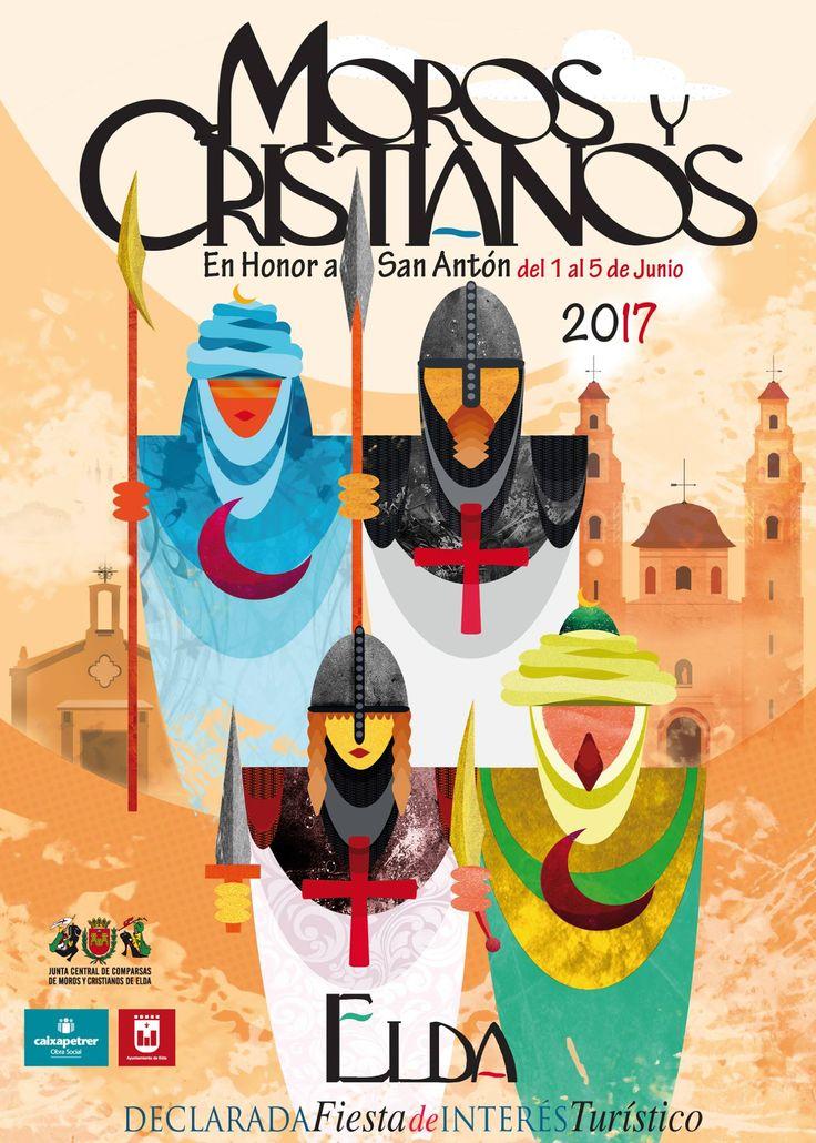 Cartel Moros y Cristianos Elda año 2017