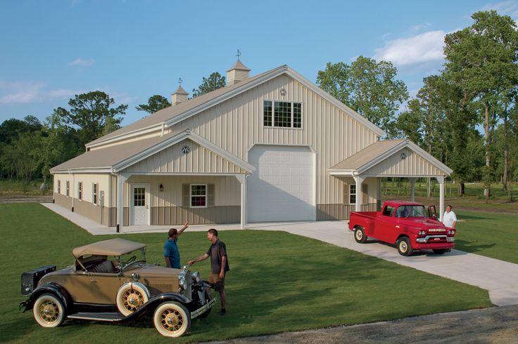 Morton Buildings hobby garage in North Carolina.