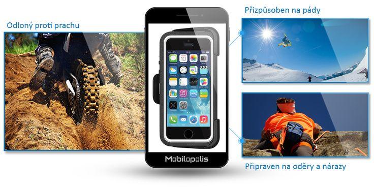 Odolný kryt na iPhone 5, 5s a SE - Amzer CRUSTA černá - bílá AMZ300081