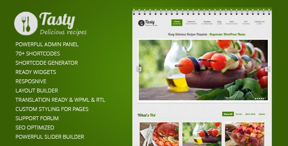 Tasty Responsive Food WordPress Theme