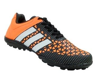 Chuteira Society Adidas Ace 15.3 Laranja e Preto Lançamento