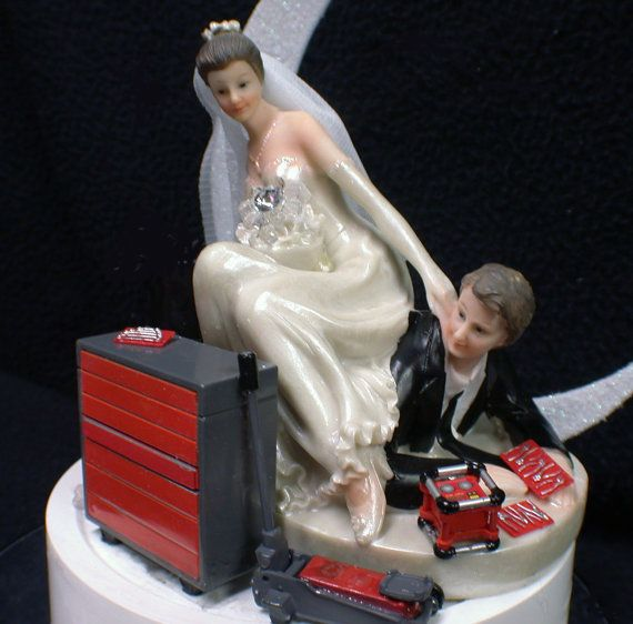 Mechanic Wedding Cake Topper Uk
