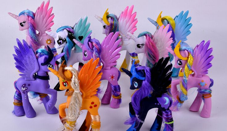 플라스틱 말 귀여운 patroled PVC 유니콘 장난감 생일 크리스마스 인형 Gifthorse 장난감 인형 Brithday 선물 어린이 장난감
