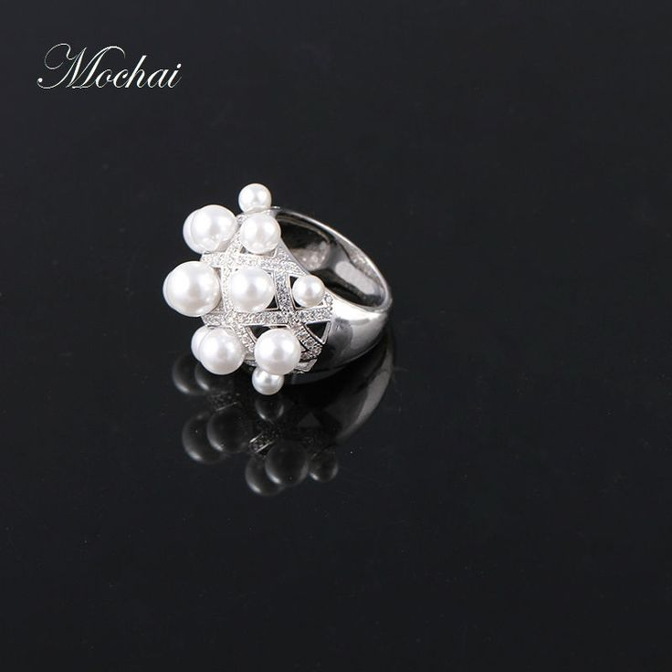 Aliexpress.com : Buy Luxury Full Simulated Pearl Big Party Rings for Women Brand Micro Pave Setting Cubic Zircon Stunning Jewelry Accessories ZK30 from Reliable brand rings for women suppliers on Mocai China Store