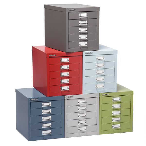 Container Store Storage #31 - The Container Store U003e Bisley® 5-Drawer Cabinet. I Like The Yellow One