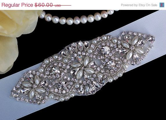 SALE  Bridal Belt Sash  Wedding Belt Sash  Prom by EleganceByKate, $53.00