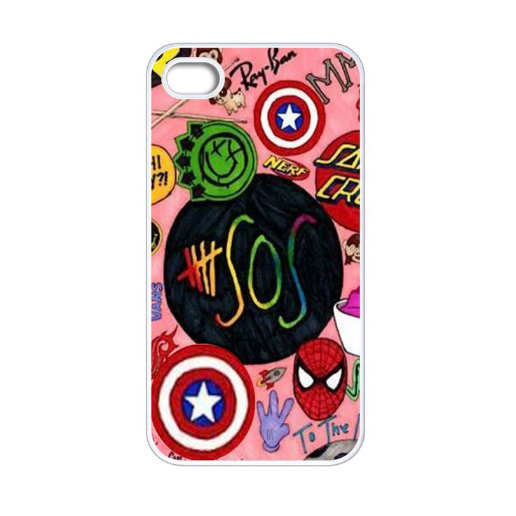 5 SOS Superheroes iPhone 4[S] Case
