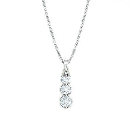 Fiducia Diamond Necklace in 18kt White Gold