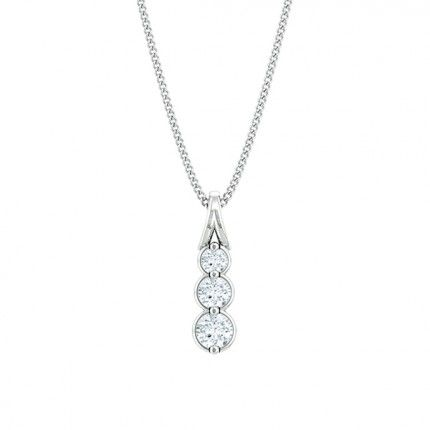 Fiducia Diamond Necklace in 18kt White Gold