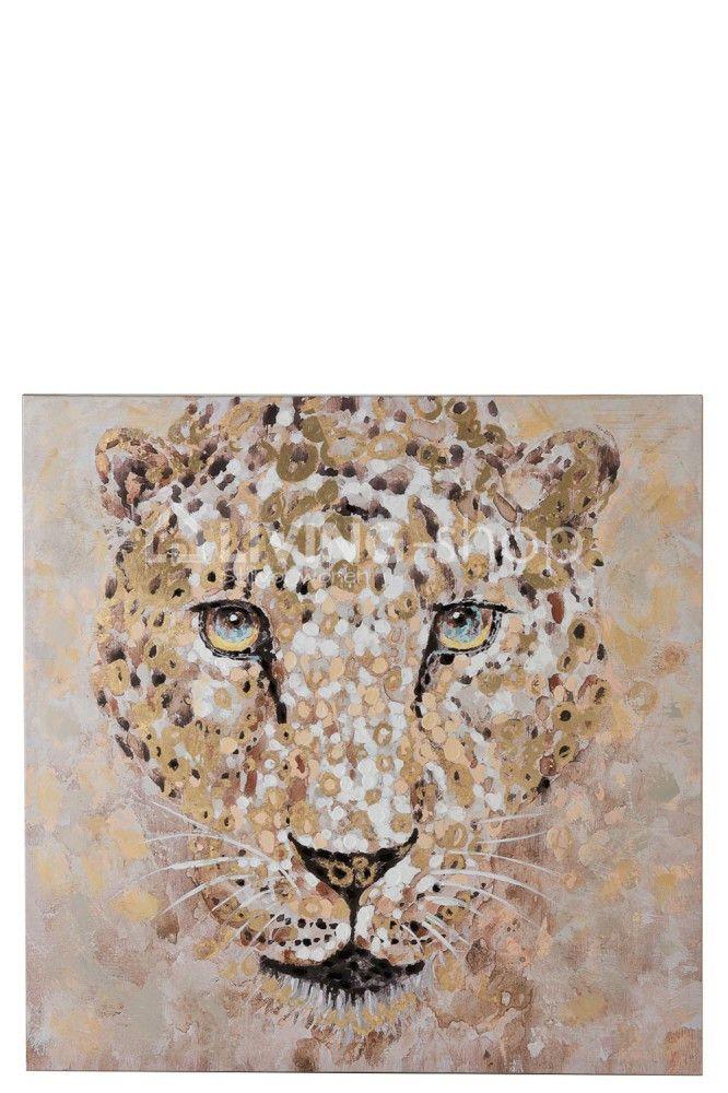 Groot Luipaard Schilderij J Line Online Kopen Living Shop Stijlvol Wonen Webshop Schilderij Canvas Kader Canvas