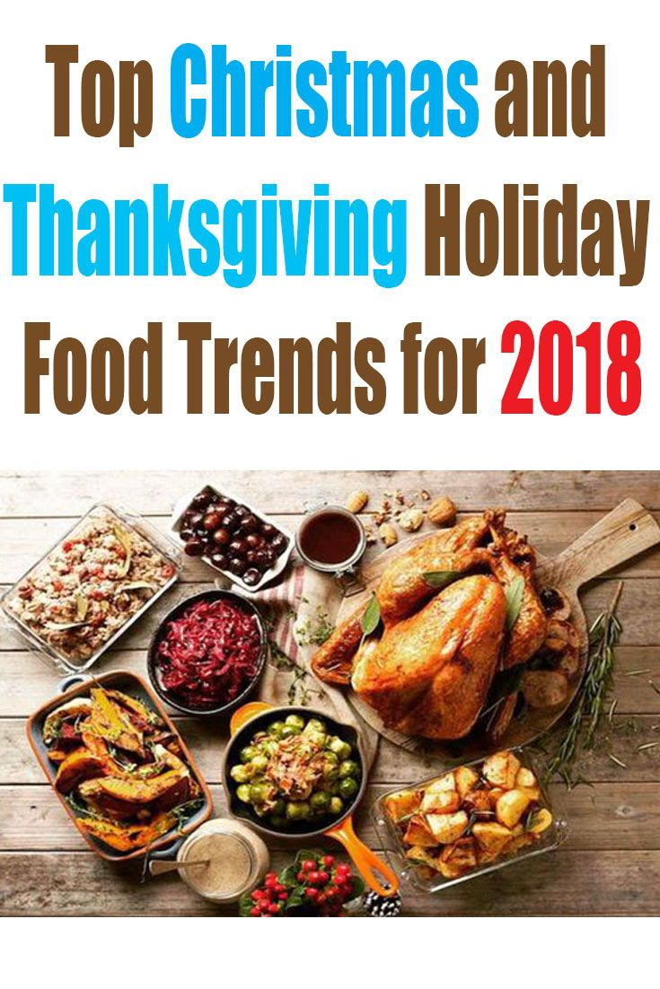 Top Christmas and Thanksgiving Holiday Food Trends for 2018