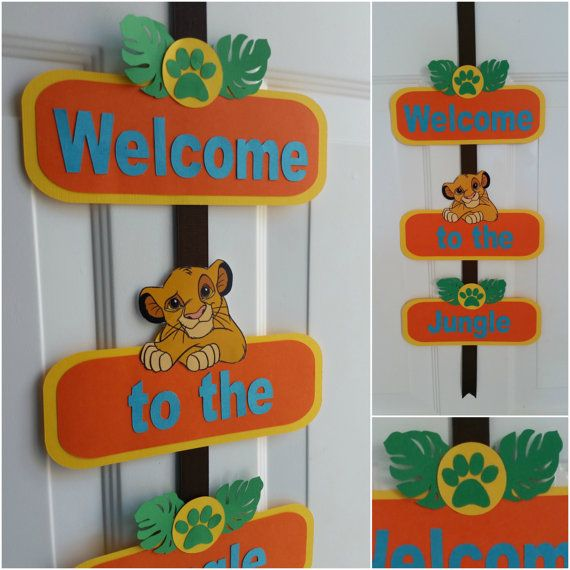 Lion King collection Check out this item in my Etsy shop https://www.etsy.com/listing/234874493/lion-king-welcome-door-sign-lion-king
