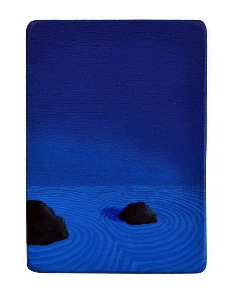 Ángel Padrón | Jardín japonés | 2014 | Óleo sobre tela en madera | 24 x 17 cm.
