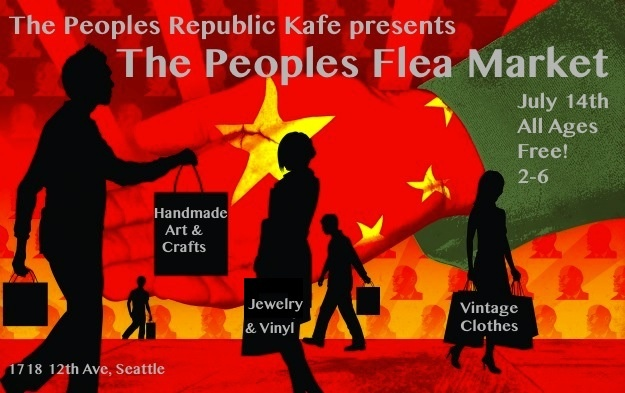 The flyer for the first Peoples Flea Market! On Capitol Hill in Seattle WA. My crafty friends & I will be vending here!