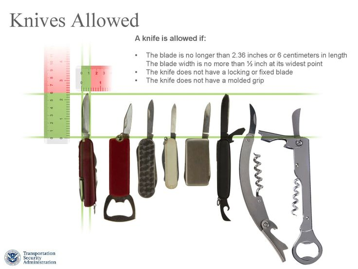 TSA Prohibited Items List Changing April 25th - Small Pocket Knives and Some Sporting Goods Items to be Permitted