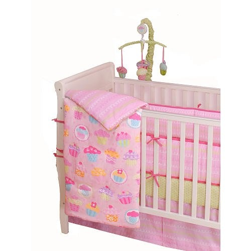 Summersault Babycakes Cupcake Crib Bedding Set and Matching Nursery....I WANT THIS FOR MY DAUGHTER!!