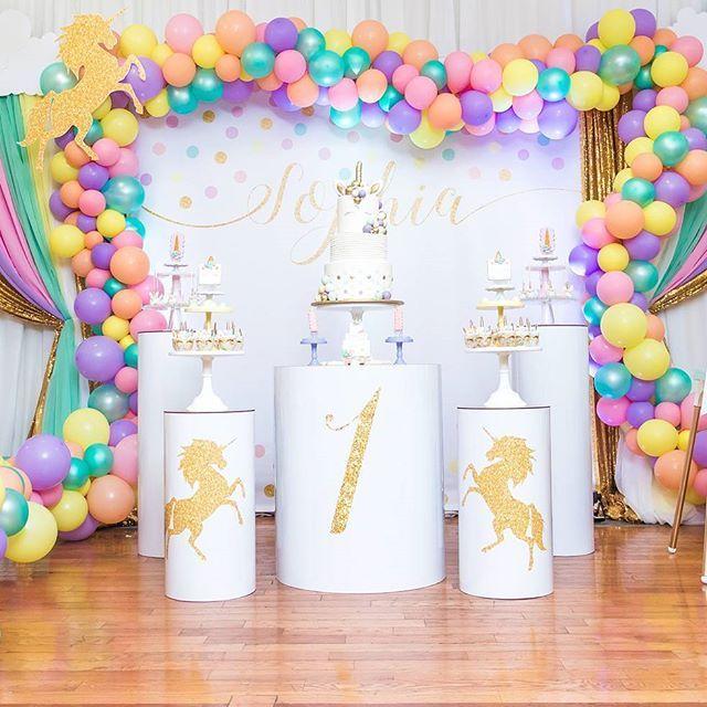 Sophias First Birthday Unicorn Theme 1st