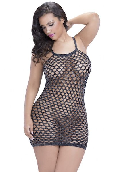 Seamless lurex racer back dress