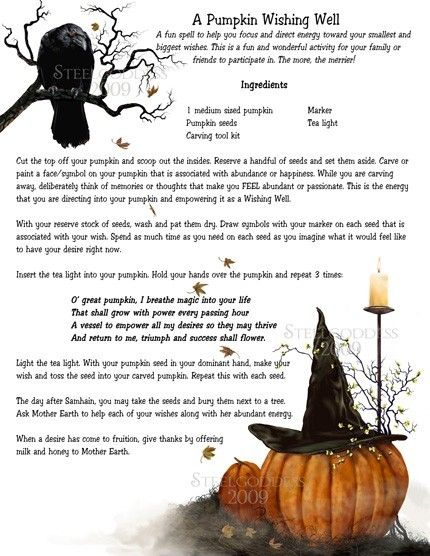 A Samhain Pumpkin wishing spell!!