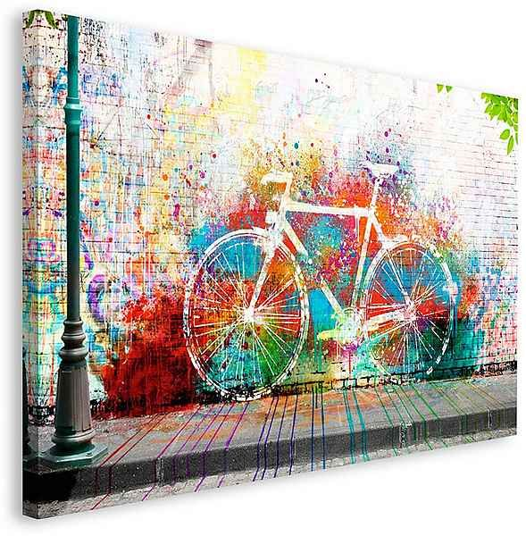 Home Affaire Deco Panel Wo Ist Das Fahrrad In 2020 Fahrrad Malerei Fahrrad Zeichnung Und Idee Farbe