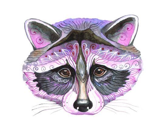 Pin by Funky Aesthetics on Art Animals Raccoon