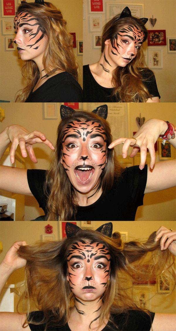 #Tiger #make-up #originalfancydressmakeup #howtolooklikeatiger #Roar