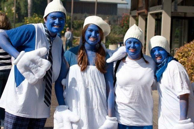 Schlümpfe | Kostüm-Idee für Gruppen zu Karneval, Halloween & Fasching
