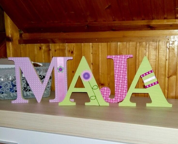 Maja sofitive wood letters DIY