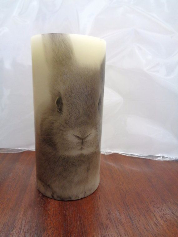 rabbit candle by CANDLEMANDAN on Etsy