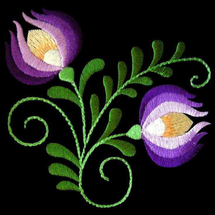 Polish Folk Art Embroidery Design