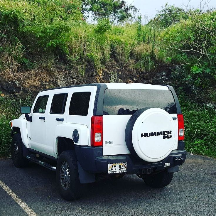 Nice Hummer!  #protecautocare #engineflush #carrepair #hummer #h3 #sport #utility #vehicle #custom #customized #tinted #white #suv #followus