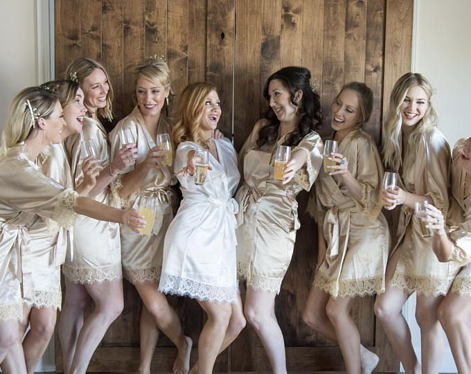 Lace Bridal Party Robes Bridesmaids Wedding Day Gifts