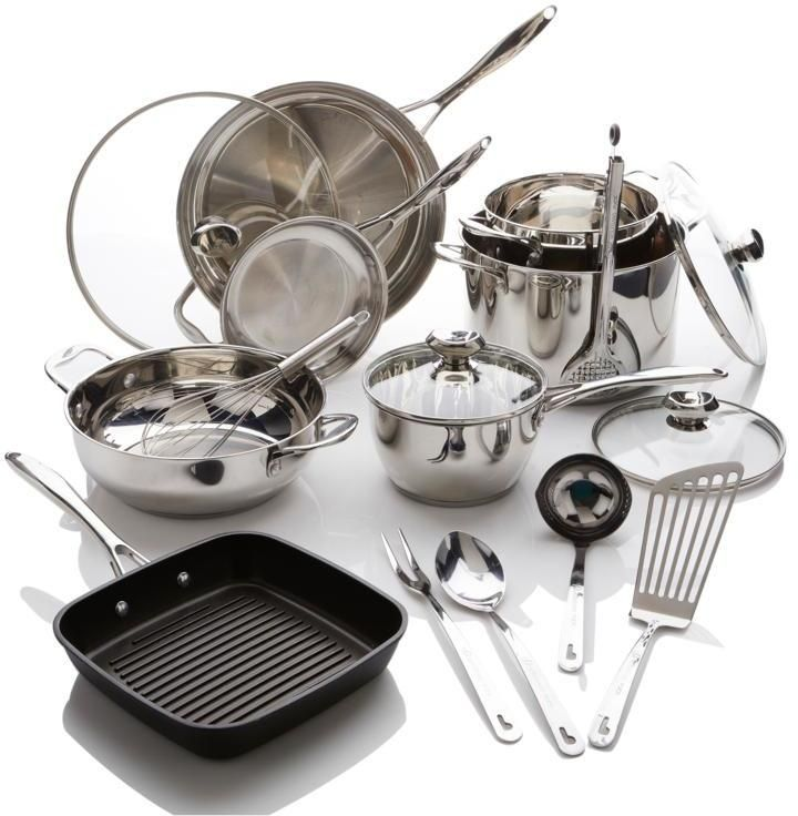 Wolfgang Puck Bistro Elite 17-piece Stainless Steel Cookware Set