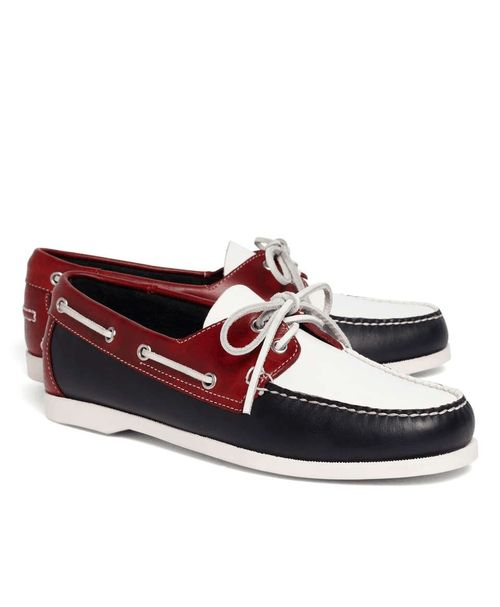 Brooks Brothers | Color-Block Boat Shoes #BrooksBrothers #boat #shoes