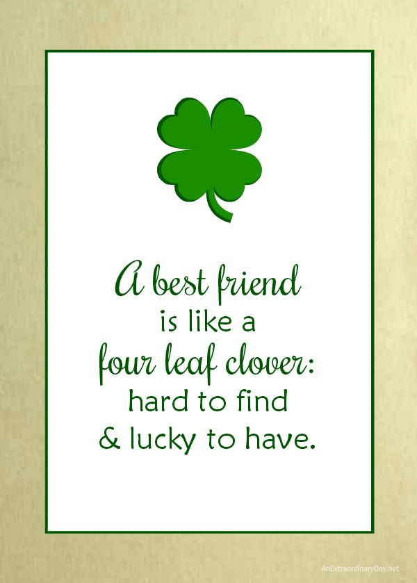 This Irish Friendship Quote was turned into a 5x7 art print and is available as a free download. Perfect for framing and making the centerpiece of a St. Patrick's Day vignette.