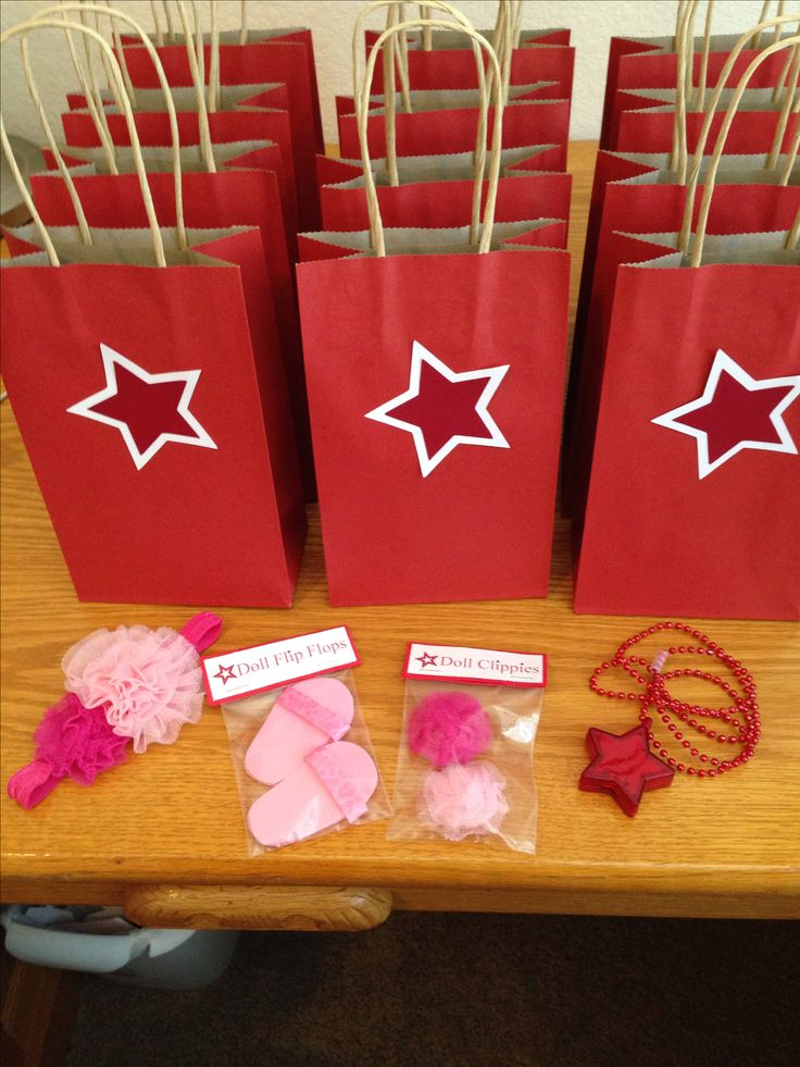 American girl doll party favor bags