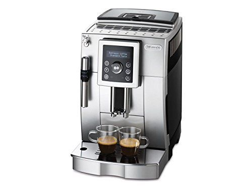 DeLonghi Bean to Cup Automatic Italian Espresso Machine with New Cappuccino System, Silver-Black ECAM23420 ** Want additional info? Click on the image. #EspressoMachine
